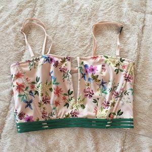 [victoria's secret] nwt unlined floral bralette
